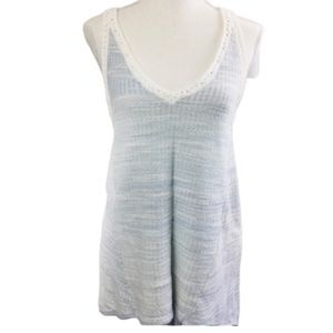 Anthropologie Moth Baby blue Sleeveless Tank